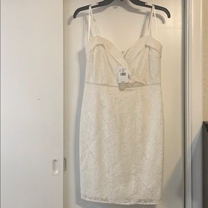 NWT GB white lace dress